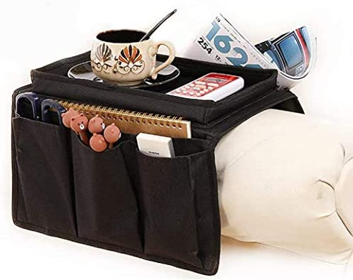 Armchair Caddy Couch Caddy Arm Rest Organiser TV Remote Control Holder Sofa Tray Remote Caddy product image