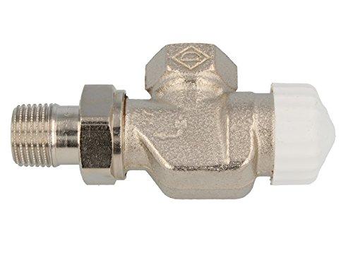 TA Heimeier Thermostat Ventilunterteil V-exakt IIAxial, Rotguss vernickelt 1/2 Zoll, kvs 0,86, 3710-02.000