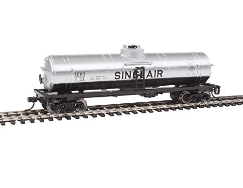 Walthers Trainline 40' Tank Car with Metal Wheels Ready to Run - Sinclair Oil