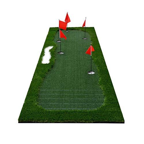 LILIS Alfombrilla de Golf Poner Mat portátil Turf Formación de Calle áspera, poniendo Cubierta Verde for Cubierta, Campo de ayudas a la formación, Hogar Jardín Garaje Práctica al Aire Libre
