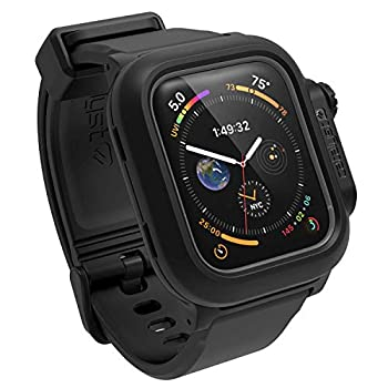 330ft Waterproof Case Designed for Apple Watch Series 6/SE/5/4 44mm Soft Silicone Watch Band Shock Proof Rugged Protective case Designed for Apple Watch by Catalyst