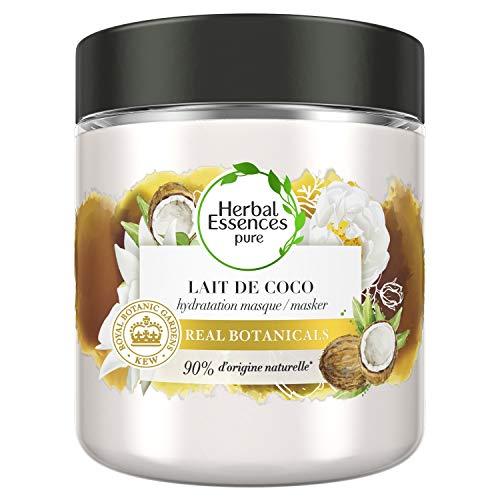 Herbal Essences, Masque Cheveux Hydratation, 90% d'Ingrédients d'origine Naturelle, Lait de Coco, Ph Equilibré, 250 ml