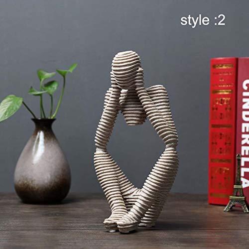 Symboat Statues Escultura Ornamentos Decorativos de Figure Abstracta de gres para el...