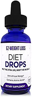 Natural Weight loss DIET DROPS - Helps burn calories - Appetite Suppressant with African Mango & Amino Acids - Ultra Concentrated - Burn Unwanted Fat All Natural - Maintain Muscle