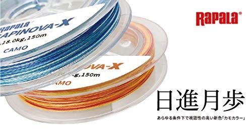 ラパラ PEライン ラピノヴァX カモパターン 150m 0.8号 17.8lb 4本編み コスタルカモ RLX150M08CC