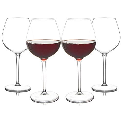Copa de vino grande irrompible de 480 ml, de plástico Tritan, irrompible, para acampar y uso diario, apto para lavavajillas (4 piezas/8 piezas)