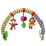 GEDEIHEN Arche pour Poussette, Arc D'activités de Bébé avec Son, Arche d Eveil Bebe pour Bébé Nouveau-né, C'est Un Jouet D'activités de Voyage pour Bébé avec 100% Sûr et Confortable