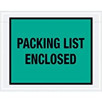 Boxes Fast Tape Logic Packing List Enclosed Envelopes 7 x 5 1/2 Green (Pack of 1000) [並行輸入品]
