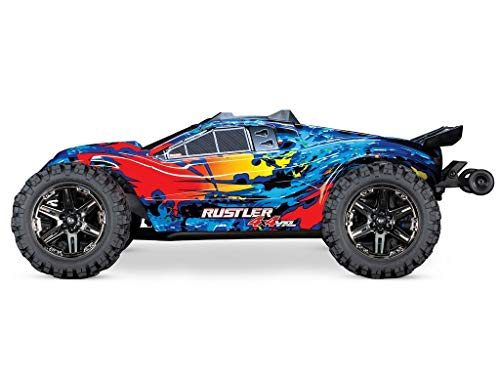 Traxxas 67076-4 Rustler 4x4 BRUSHLESS Stadium Truck VXL 2.4GHz Orange-Blau