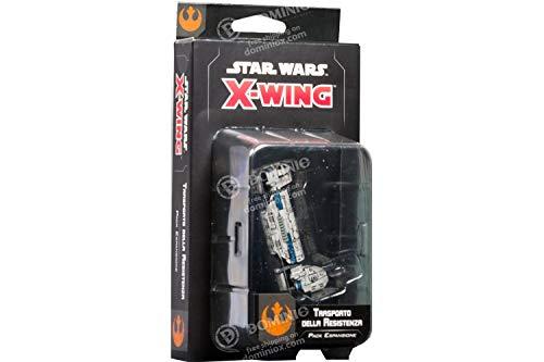 Asmodee Italia- Star Wars X-Wing Transporte de la Resistencia expansión Juego de...