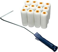 12PCS/set 100mm Craft Paint Foam Rollers Decorators Brush Smooth Tools + Handles Painting Decorating
