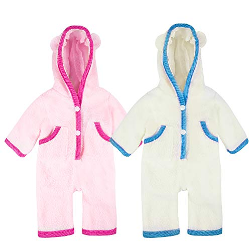 ZOEON Ropa de Muñecas para New Born Baby Doll, Onesies para 18 ' Muñecas (40-45 cm), Conjunto de 2