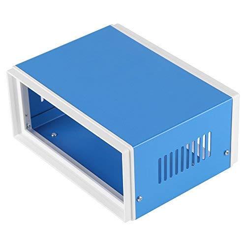 Caja De Conexión Impermeable Antipolvo De Plástico + Hierro Caja De Universidad Eléctrico Universal Gris 17 X 13 X 8 Cm/6,6 X 5 X 2,12 X 3,15 Pulgadas