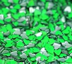Sonailsofrench - 100 Strass coeur métal #06 - Vert Fluo - conditionnementstrass : 20 STRASS EN SACHET