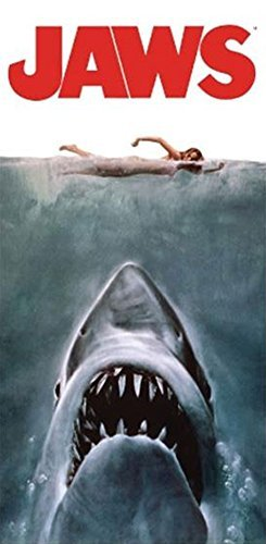 Jaws Poster Beach/Bath Towel by Jaws