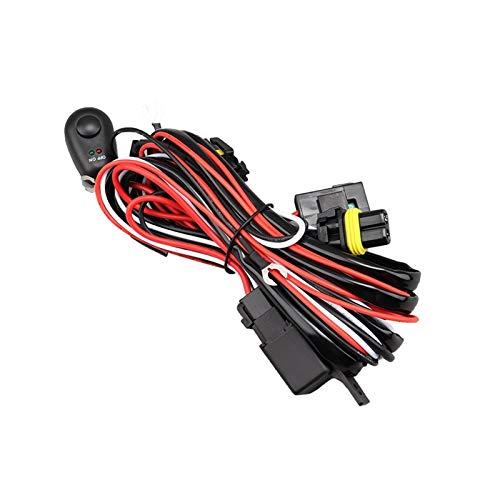 Fangaichen Adecuado para el Coche Cable de cableado H11 Cable de Conector Control Remoto H8 H9 LED LED Faro Lámpara de Niebla Cabeza Bombilla Interruptor Automotriz Relé (Color : 1 Set)