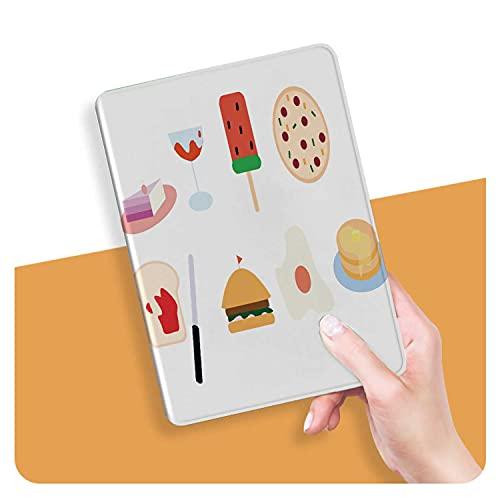 ZHOUHAOMAOYI Funda para iPad Air 4ª Generación 2020 – Burger Burger Burger Emoticon Cake Cartoon Cheesecake Multi-Angular Viewing Case con Soft TPU Back Personalizado Impresión