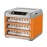 Incubadoras de Huevos Automaticas, 192 Huevos Incubadora, Control Automático Control De Temperatura Incubadoras Con Turner Automático, Mini Sistema De Aves De Aves De Aves Para Aves De (Color:naranja)
