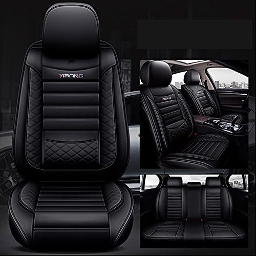 Ciroing Fundas Asientos Coche Accesorios Universales para Audi A2/A3/A4/A5/A6/A7/A8/50/80/90/100/100Avant/200/Q5/Q7 Cuero Funda Asiento Seat,Negro