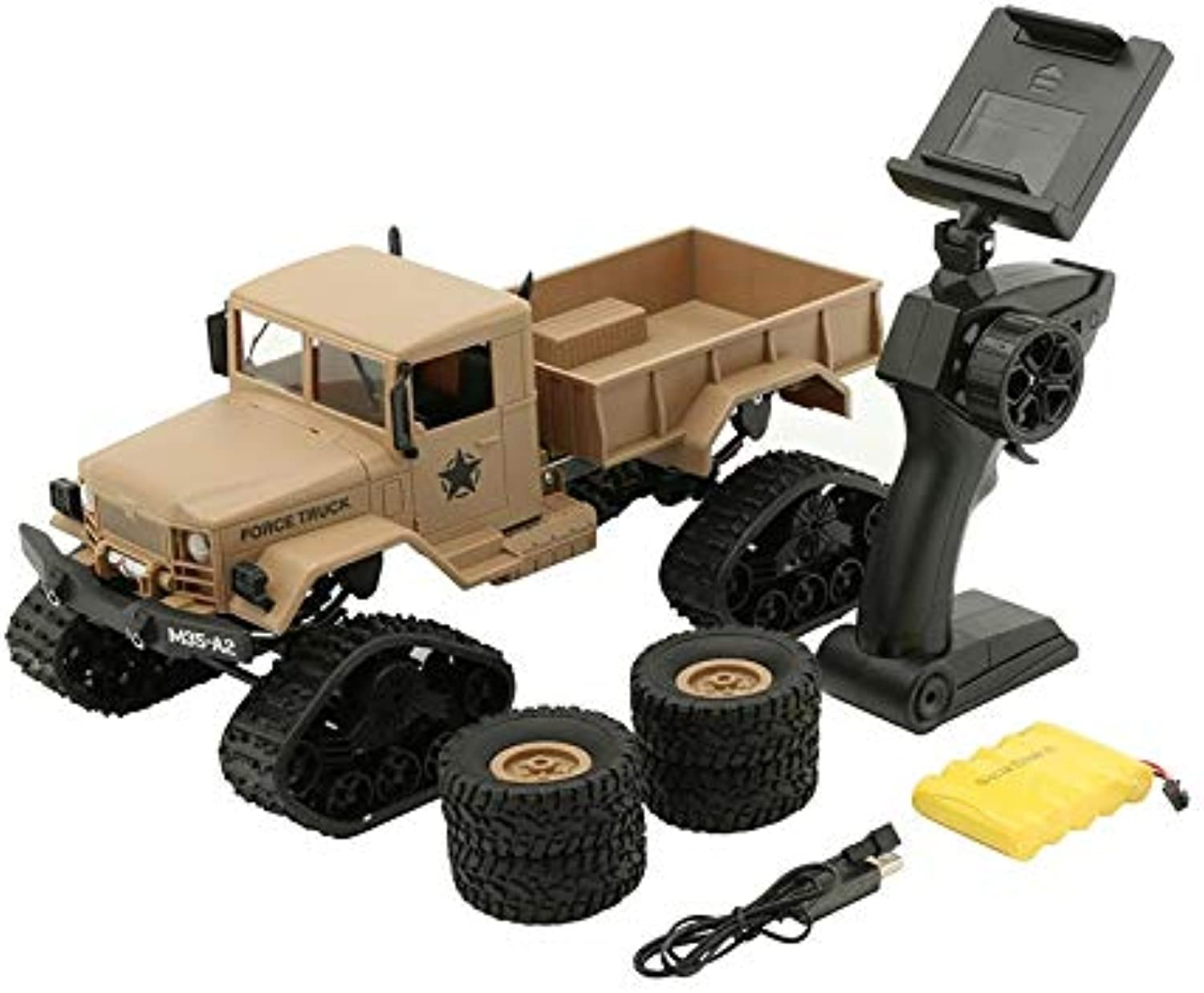 Generic WPL 4WD 1 16 Remote Control Military Truck Replaceable Wheel Drive OffRoad RC Climbing Car Toy No Camera200006154