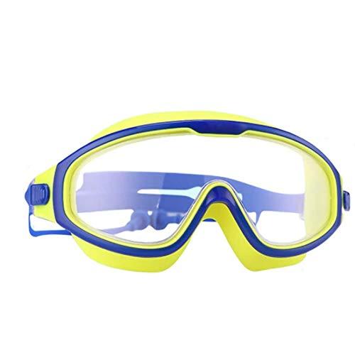 Yolistar Gafas de Natación para Niños con Integrales Enchufe de Oído, Antiniebla Protección UV Sin Fugas Gafas Natación Ajustable para 6 a 14 Años Niños