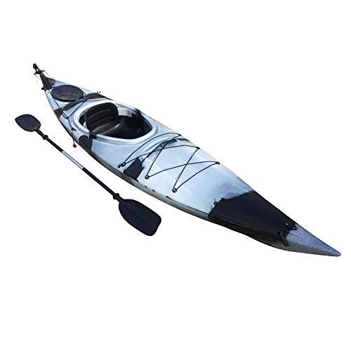 Cambridge Kayaks ES, Adventura 350, Turismo, Negro con Blanco, Rigido