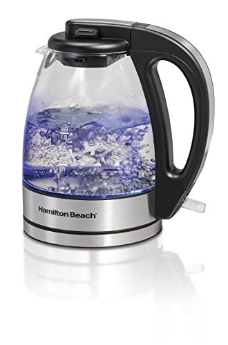 Hamilton-Beach 40930C 1.0 L Electric Glass & Stainless Kettle, Small