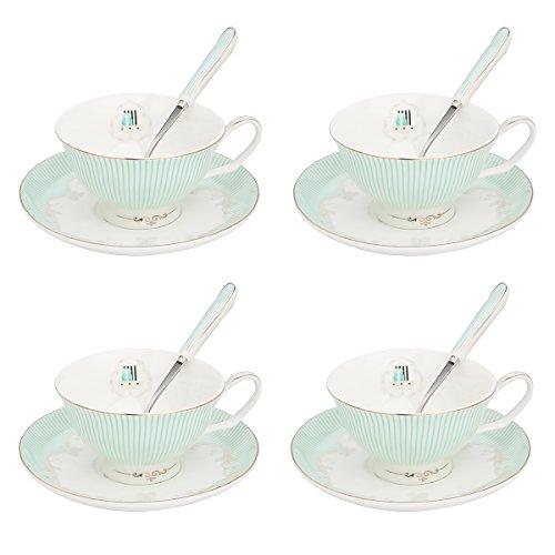 Artvigor 4 Juegos de Tazas de Café de Porcelana, 200ml, Juegos de...