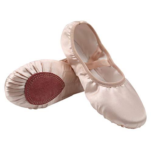 PRETYZOOM Zapatos de de Ballet Zapatillas de Satén Zapatillas de Gimnasia Suela para Bailarinas de Ballet Y Competición Gimnástica Rítmica (Talla 39)