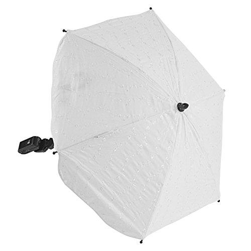 For-Your-Little-BA Sonnenschirm kompatibel mit EMMALJUNGA Classic Sport, Weiß