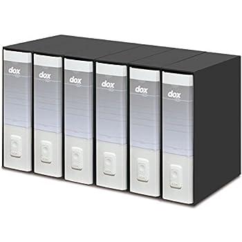 Formato A4 Rexel D15107 Dox 1 Registratore a Leva Grigio