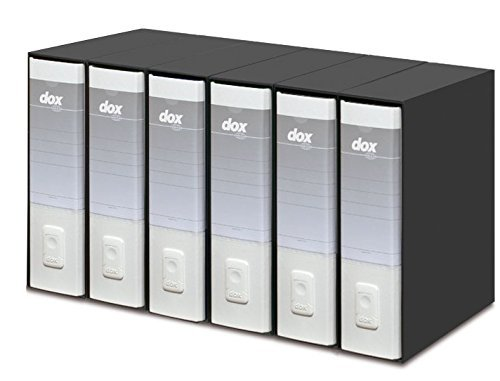 Rexel Dox Aktenordner (DIN A4 Inhalt) 6 Stück weiß
