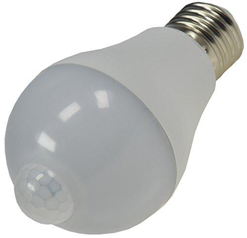 LED Glühlampe mit PIR Sensor Bewegungsmelder E27 4200k 600lm, 230V/6W neutralweiß ideal für Keller Carport Lager Abstellraum