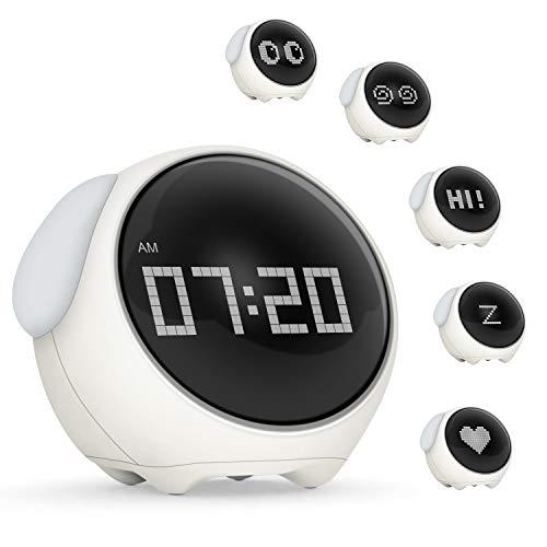 Reloj Despertador Infantil Digital, Despertador con Función de luz Nocturna y Función Snooze Funciones para Niños, Silenciosa Reloj Despertador de Cabecera