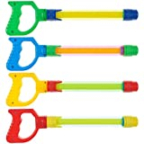 Prextex 4 Pack Water Shooter with Easy Grip Handles Fun Summer Toy for...