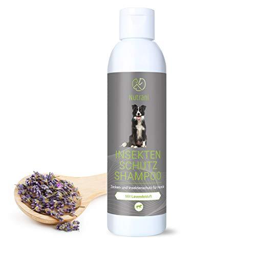 Nutrani Insektenschutzshampoo für Hunde | 200 ml – Zuverlässiger Zecken- und Insektenschutz gegen Zecken, Mücken, Flöhe, Grasmilben und andere Parasiten – Mildes, hautverträgliches Hundeshampoo