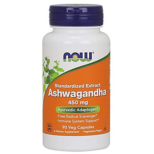 NOW Supplements, Ashwagandha (Withania somnifera)450 mg (Standardized Extract), 90 Veg Capsules
