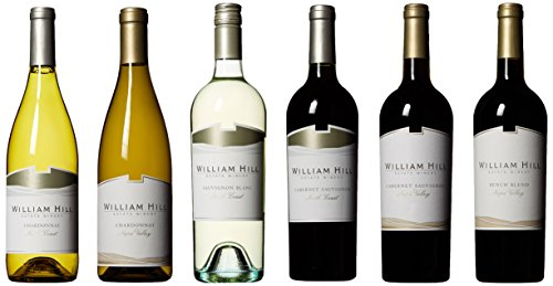 William Hill Estate Wine Tasting Flight Mixed Pack, 6 x 750 mL, Official Wine of the PGA TOUR