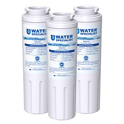 Waterspecialist UKF8001 Water Filter, Replacement for EveryDrop Filter 4, Whirlpool EDR4RXD1, 4396395, Wrx735sdbm00, Mfi2570fez Msd2651heb, Krfc300ess01, 469006, Pack of 3