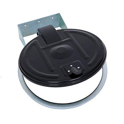 Abfallsackhalter für 120-l-Sack - Wandhalter - verzinkt, Kunststoffdeckel -