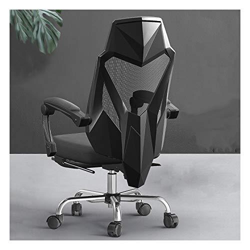 LYJBD Silla de juegos con respaldo alto, ergonómica, giratoria, altura y respaldo de ajuste con reposapiés y silla giratoria moderna