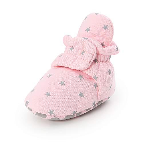 LIANNAO Zapatos de Calcetín de Bebé Invierno Botas, Botines de Bebé Caliente Boots de Algodón para Primeros Pasos Antideslizantes Bebés Zapatos de Invierno Cálido Botines 0-18 Mes