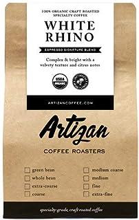 100% Organic Espresso Blend - Medium Dark Roast - White Rhino Signature Blend - USDA Certified Organic - Roasted in Miami, FL … (Extra Coarse Grind, 5 LB)