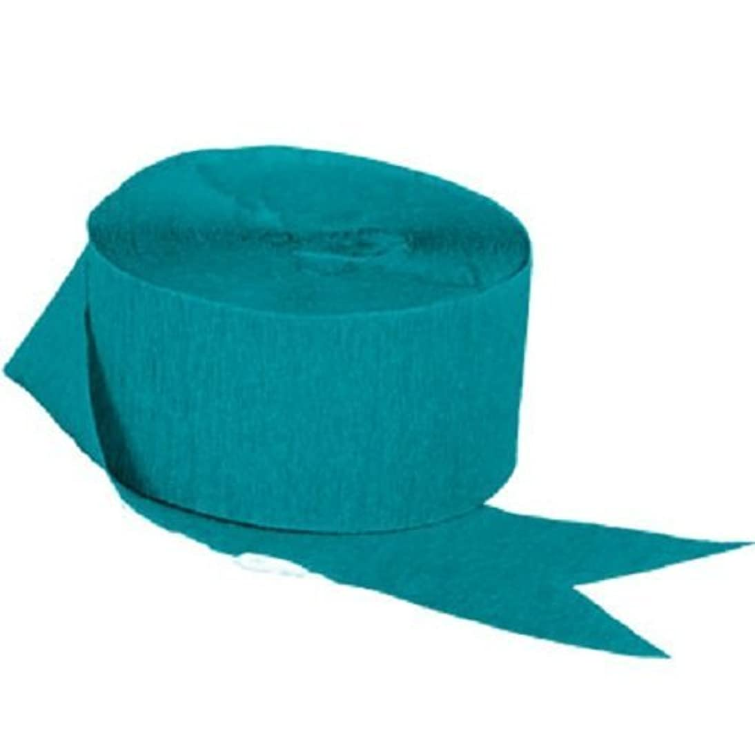 TEAL Crepe Paper Streamers, 2 ROLLS, 145 FT TOTAL, MADE IN USA!