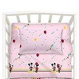 Disney Completo Lenzuola Baby Minnie&Mickey in Cotone Rosa