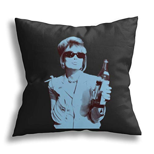 HCLIFE -Patsy Stone – Warhol Blue – Wurfkissenbezug lustig dekorativ quadratisch Kissenbezüge Standard Kissenbezug Couch Sofa Bett 45,7 x 45,7 cm