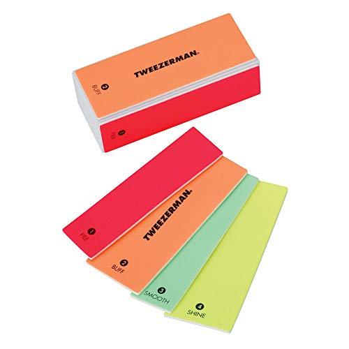 Tweezerman Neon 4-in- File, Smooth & Shine Block Hot