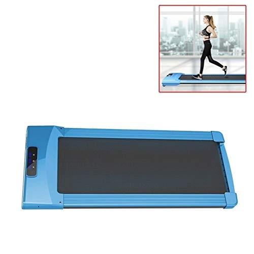 Li Ye Feng Shop Smart Flat Treadmill home Folding Mini Silent Walking Machine indoor Fitness Electric In-situ Treadmill (Color : Blue, Size : 140 * 60 * 14.5cm)