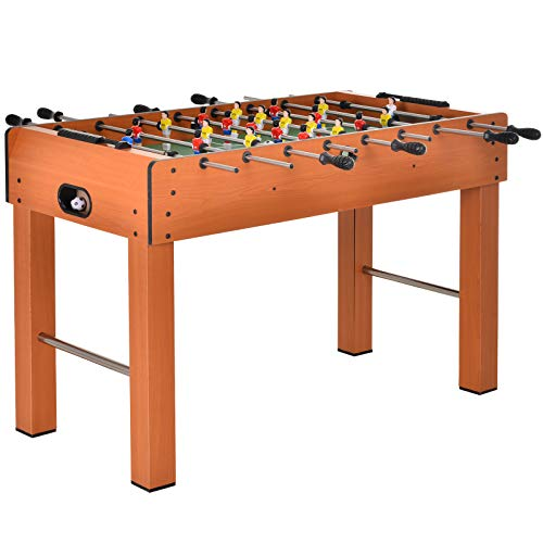 HOMCOM 4FT Football Foosball Play Table Kids Family Soccer Ball with Legs Home Sports Fun Pub Indoor Gaming