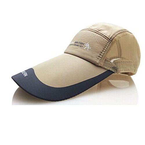 Baseball Cap Courir PAC réglable / Sports de plein air Hat (kaki)